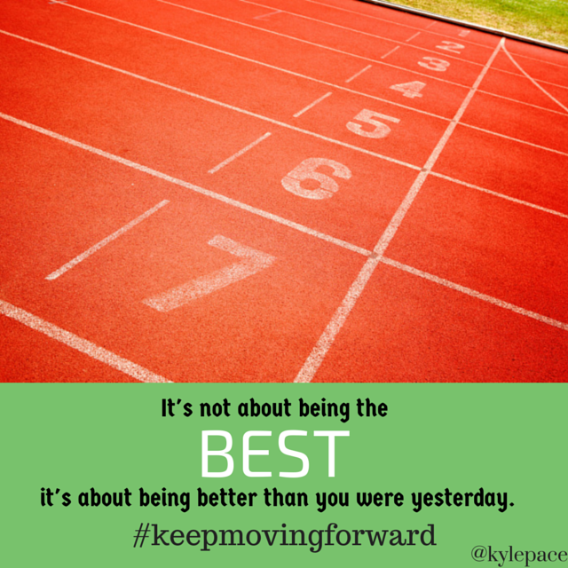 It's not about being the best...