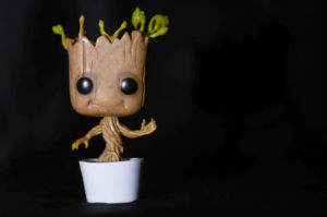 picture of baby groot in a flower pot