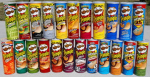 image of cans of Pringles potato chips